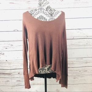 Free People We the Free Waffle Knit Sweater Top S